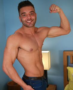 Englishlads.com: Tall & Muscular Stripper George Shows His Uncut Cock is as Impressive as his Physique!