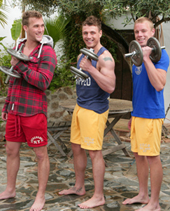 Englishlads.com: Three Straight Hunks in The Sunshine - Rich, Chris & Tyler & Loads of Testosterone!