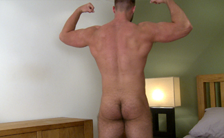 Bonus Video of Tom's Photo Shoot - Muscular Straight Lad Shows Off His Ass
