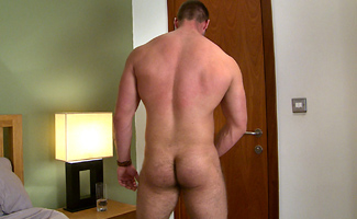 Tall & Muscular Young PT Tom Shows his Very Hairy Hole & Enjoys his 1st Manhandling!