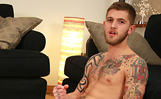 Bonus Video of Tomas's Photo Shoot - Young Boxer With a Big Uncut Cock!