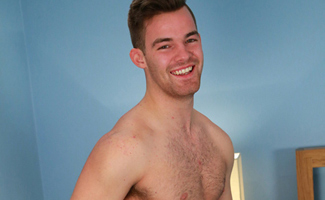 Bonus Video of Travis' Photo Shoot where This Hairy Lad Plays with a few Dildos!