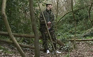 Squaddie in the woods