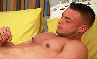 Bonus Video of Photo Shoot - Confident and Flirty Young Man Tyler Show off his Muscles & Real Big 9 Inch Uncut Cock!