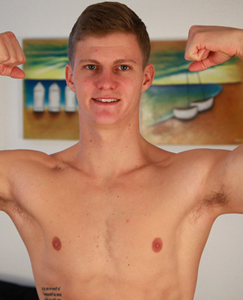 Englishlads.com: Ultra Fit Straight Hunk Shows his Smooth Body & Rock Hard Cut Cock!