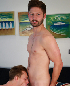 Englishlads.com: Young Straight Footballer John gets his 1st Man Wank & Suck - Cameron does the Honours!