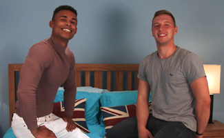 Englishlads.com: Young Straight Hunk Aiden Treats Casey to His 8 Inch Uncut Erect Cock!