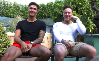 Englishlads.com: Young Straight Lads Casias & Joe Wank Off a Man for Their 1st Time!