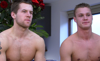 Ultra toned Str8 hunks Jon Saunders & Zack Elliot - messing together