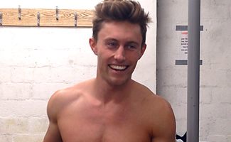 Bonus Home Movie - Cameron Strips and Wanks In The Gym Changing Room EL Premium