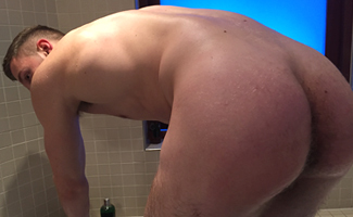 Home Movie Filmed by Andrew As he Takes a Shower & Wanks his Uncut Cock! EL Premium
