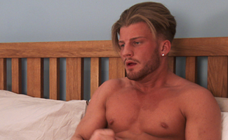 Young Blond Ex on the Beach star Justin shows how to Cum Bucket Loads - 3 Times! EL Premium