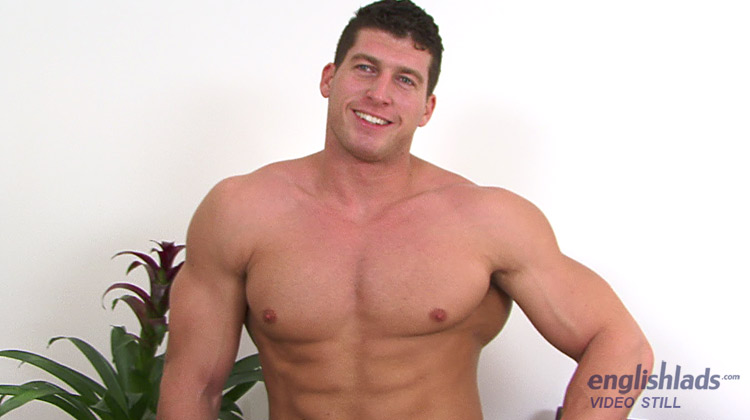 Cock muscle hunk playing are
