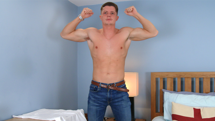 Wanking cock his hunk ripped solo hard consider, that you