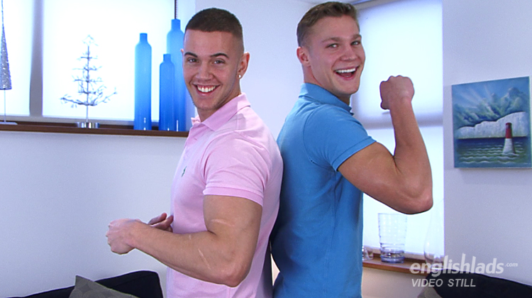 Naughty hunks go all the way for each other