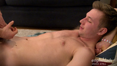 Aiden Gets Massaged by Best Mate Leo and Cums All Over His Abs!