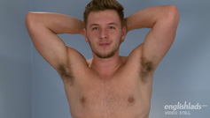 Tall, Straight Lad Aiden Shows Off His Chunk Hard Uncut Cock and Hairy Hole!