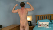 Muscular & Hairy Young Man Briley Shows off his Big Uncut Cock & Explodes Twice!