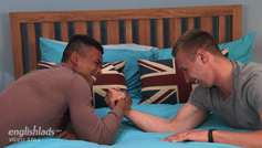 Young Straight Hunk Aiden Treats Casey to His 8 Inch Uncut Erect Cock!