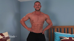 Muscular Straight Man Conall Shows us his Big Uncut Cock & Fires Loads of Cum!