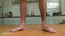 Tall & Tattood Straight Lad Damian Shows off His Impressive Uncut Cock & Squirts Loads!