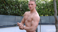 Young & Muscular Personal Trainer David Kolar Shows his Big Uncut Cock & Squirts Big!