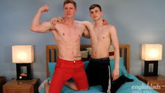 Straight Hunk Eddie Branson Wanks his 1st Man & its Dominic Moore's Uncut Cock - Lucky Guy!