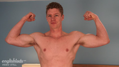 Straight Tall Eddie Reveals his Muscular Body and Big Uncut Secret Weapon!