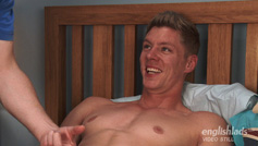 Muscular Hunk Eddie lets Loose & Gets His Thick Uncut Cock Wanked!