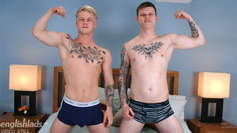 Straight Mates Craig & Hayden Wank Each Other's Uncut Cocks & Blow Each Other's Loads!