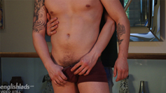 Young Cheeky Lads Hunter Hay and Dominic Wank Their Big Uncut Cocks!