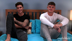 Jack Ashton and Casias Bradley Wank Their Big Uncut Cocks and Shoot Massive Cum Shots!