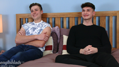 Young Straight Lad Charlie's 1st Man Wank with Jack's Thick Uncut Cock & Jack Cums Over His Shoulder!