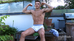 Young Barman & Athletic Young Pup Jack Shows Us His Big Cock and Cums Loads!