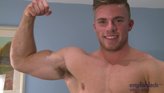 Straight Lad Jake Shows Off His Hot Muscular Body and Wanks His Uncut Cock!