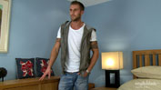 Muscular & Ripped Straight Footballer Jake Plays with a Dildo for the 1st Time!