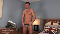 Straight Boxer James Reveals his Hairy Body, Hard Uncut Cock and Shoots a Big Load!