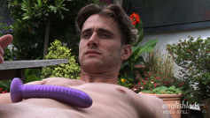 Young Straight Stud James Wanks His Big Uncut Cock & Power Dildos His Hole!