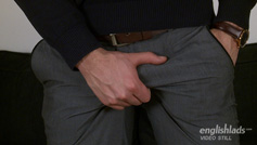 Hairy Young Straight Pup Jasper Wanks his Rock Hard Uncut Erection & Shoots Load of Cum!