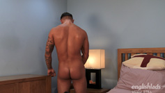 Straight Hunk Jaxon North - Well Muscled Thick Uncut Cock & Cums Loads, Hitting his Face!