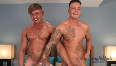 Straight Hunk Albie's 1st Man Wank & Plays with Joe's Rock Hard Uncut Cock!