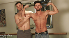 Joel & Ryan Wank each others Uncut Cocks & Shoot their Big Loads Together!