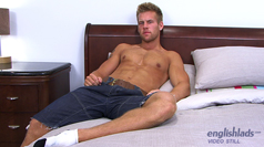Str8 Hunk Jon Saunders -  Dildo's his Ass for the First Time!