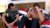 Straight Hunk Rich Stuffs His Thick 9 Inch Cock Up Justin & Pumps It Hard!