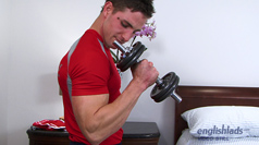 Muscular Pup Lance - Working out his Muscles and Pumping his Hole!