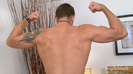 Hunky Hairy Straight Personal Trainer Leo & his Big Uncut Cock Shoots a Massive Load!