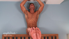 Straight Young Lad Leo Shows Off His Hairy Body and Hard Uncut Cock!
