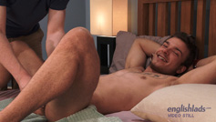 Straight Young Muscle Stud Lewis gets his 1st Manhandling and Squirts Loads of Cum!