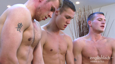 Three of Your Favourite Str8 hunks get a Right Good Rimming!