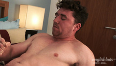 Horny Rugby Hunk Louis Shows Off His Hairy Body and Wanks His Uncut Cock Until he Cums!